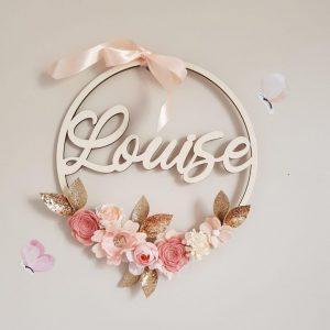 Couronne de fleurs Louise
