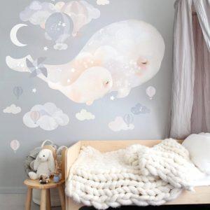 Sticker mural Baleine Béluga